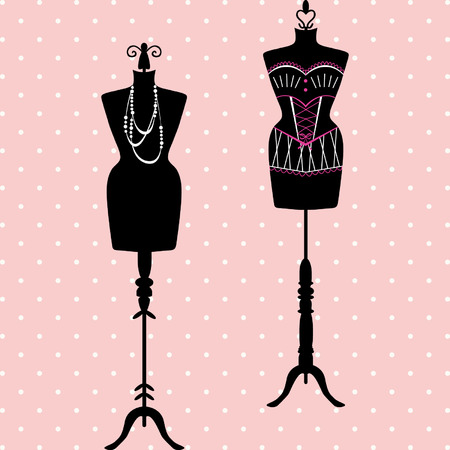 dress form: Mannequin Silhouette. Fashion, Dress Form. Tailors Dummy, Shabby Chic, Body set