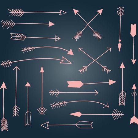 Hand Draw Arrow,Pink Arrow set