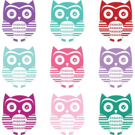 painting on the wall: Cute Owl Silhouette Collections