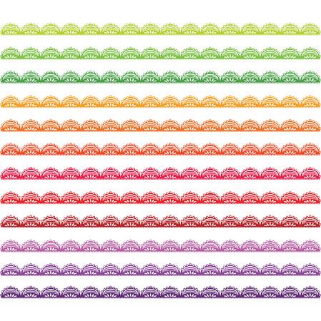 Colorful Lace Border set