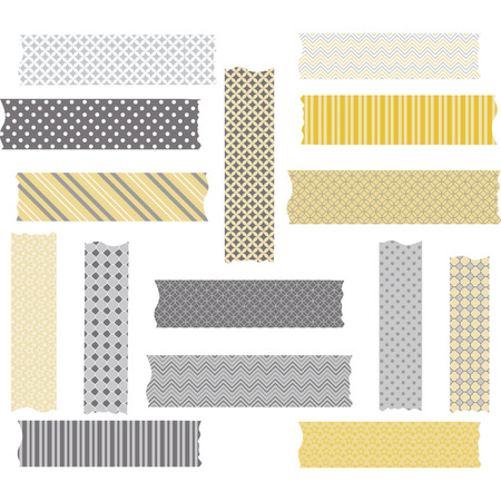 Washi Tape Graphics. WashiTape Clip Art.Scrapbook Element.Vector illustration