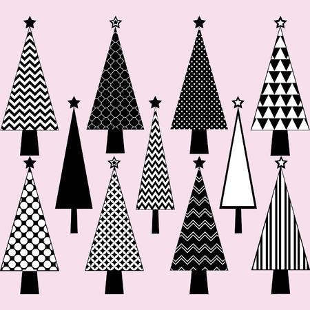 Black and White Christmas Tree set
