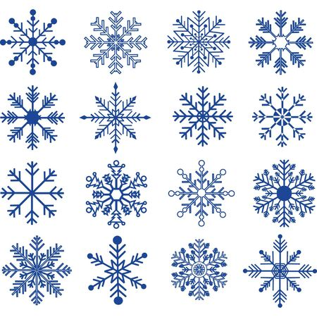 Blue Snowflakes Silhouette collections