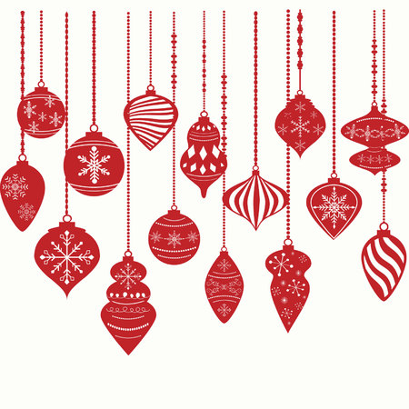 christmas ornamentschristmas balls decorations christmas hanging decoration setvector illustration stock - Christmas Hanging Decorations