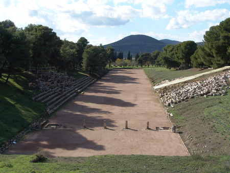 Olympia archeological site in Greece photo