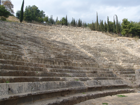 chiseled: The Argos Theater, one of the largest in Greece, was chiseled out of a stone hillside around the same time as the Parthenon in the 5th century BC