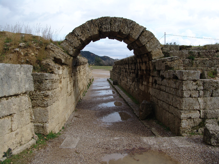 ancient olympic games: Main gate of ancient olympic games field