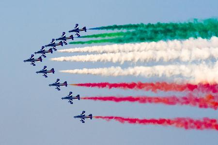 arma: Tricolor italian airpals Frecce Tricolore during an exhibition