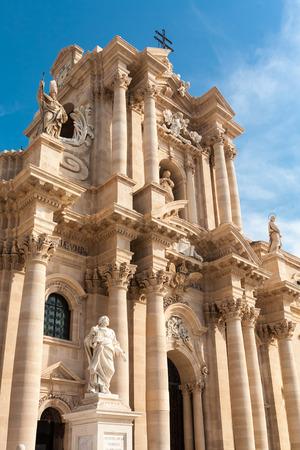 ortigia: Ortigia main cathredal in Siracusa city in Italy Stock Photo
