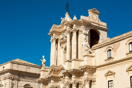 Ortigia main cathredal in Siracusa city in Italy photo