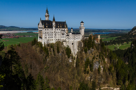Scenic view of Neuschwanstein Castle, Bavaria, Germany.