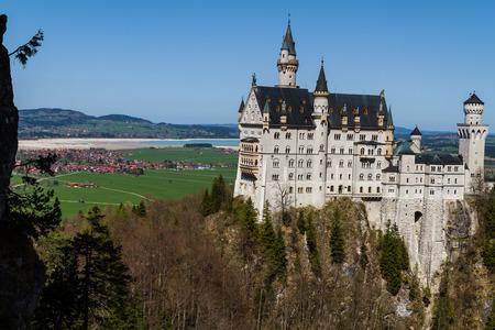 Scenic view of Neuschwanstein Castle, Bavaria, Germany.