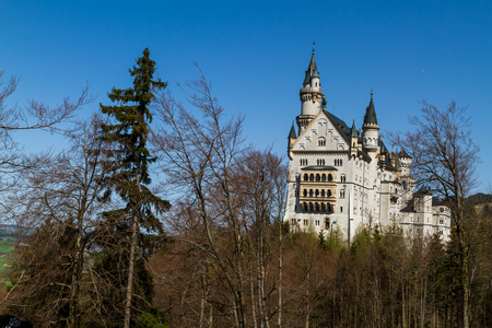 neuschwanstein: Scenic view of Neuschwanstein Castle, Bavaria, Germany. Editorial