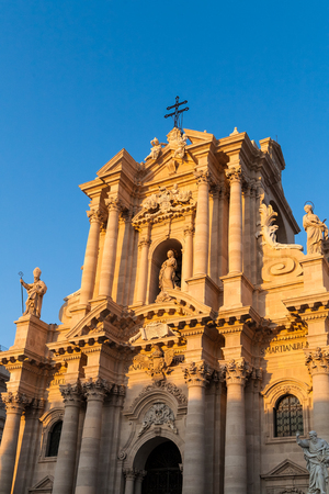 The main cathedral church of Siracusa, Sicily, Italy. photo