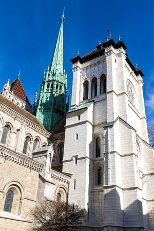 pierre: St. Pierre Cathedral in Geneva, Switzerland.