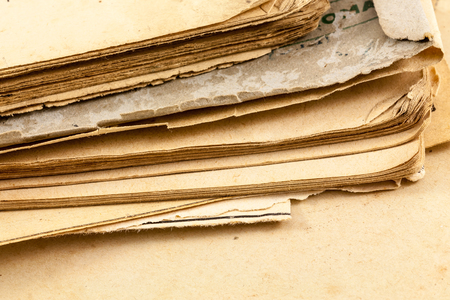 angled view: Old book pages from an angled view