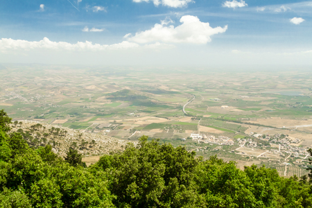 erice: Scenic view of the landscape of Erice in Sicily, Italy.