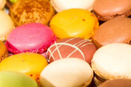 pralines: Group of decorative sweet Macarons pralines. Stock Photo