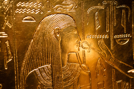 history background: Details from an Egyptian museum in Munich Germany