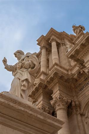 syracuse: Exterior of Syracuse Cathedral, Sicily, Italy. Stock Photo
