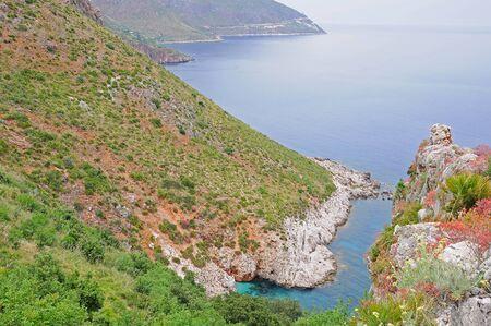 National park  Zingaro    Sicily  Italy