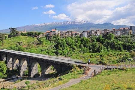 Volcano  Etna   Randazzo  Sicily    Stock Photo