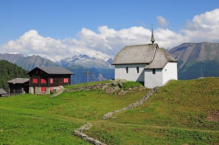 Church in Swiss Alps   Stock Photo - 16971213