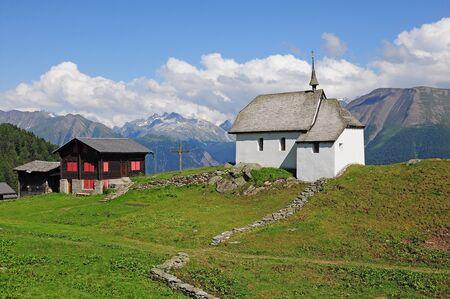 Church in Swiss Alps Stock Photo - 16971213