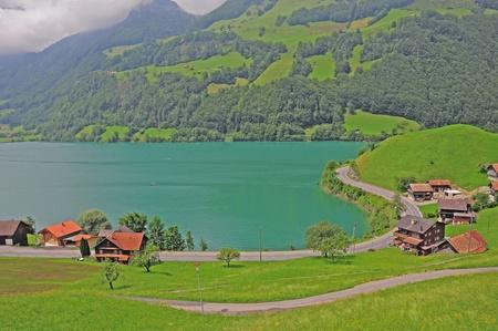 Lake in Swiss Alps  Stock Photo