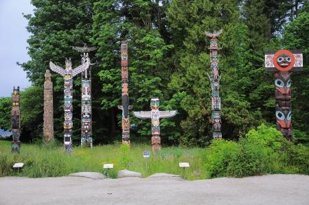 Totem poles  Vancouver  British Columbia  Canada