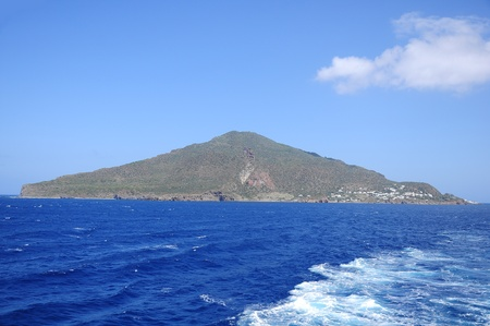 One of volcanic Lipari islands  Italy   Stock Photo