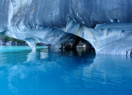 대리석 동굴 일반 카레라 호수 칠레 스톡 콘텐츠