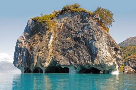 大理石の洞窟一般的なカレラ湖チリ 写真素材
