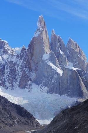 los glaciares: Parco Cerro Torre mountain Nazionale Los Glaciares Archivio Fotografico