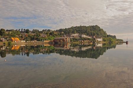 Puerto Varas  Coast of Llanquihue lake   Stockfoto
