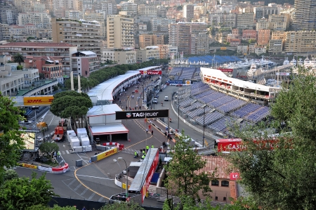 Preparation for the qualifying races of Formula 1 Grand Prix de Monaco finishes on May 24, 2012, Monaco        免版税图像 - 22410302