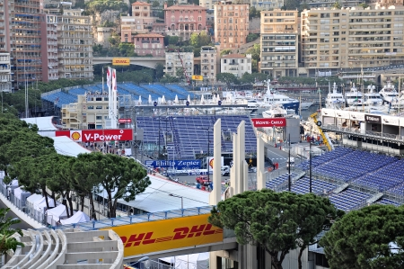 Preparation for the qualifying races of Formula 1 Grand Prix de Monaco finishes on May 24, 2012, Monaco