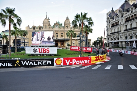 Speedway for the races of Formula 1 Grand Prix de Monaco locates near Grand Casino on May 24, 2012, Monaco                   Imagens - 22410309