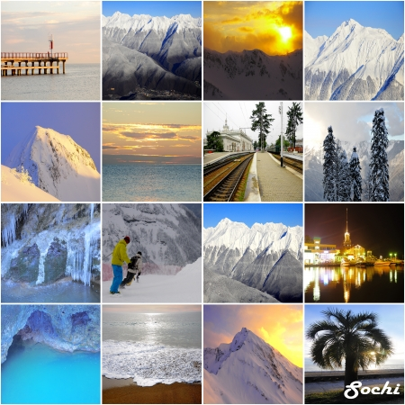 a collage made from Sochi region pictures