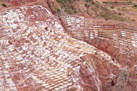 salt mine: Salinas de Maras, Peru  Salt mine  Stock Photo