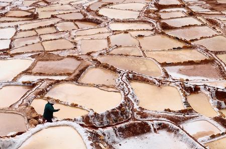 salt mine: Salinas de Maras  Salt mine  Peru   Stock Photo