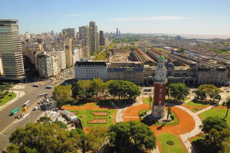 View of Retiro region of the capital on April 15, 2013 in Buenos Aires, Argentina  View includes central railway station, bus station, sea port and so called Villa 31