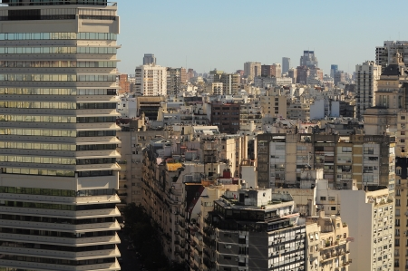 View of Recoleta region of the capital from the top of the high building in Retiro region on April 15, 2013 in Buenos Aires, Argentina