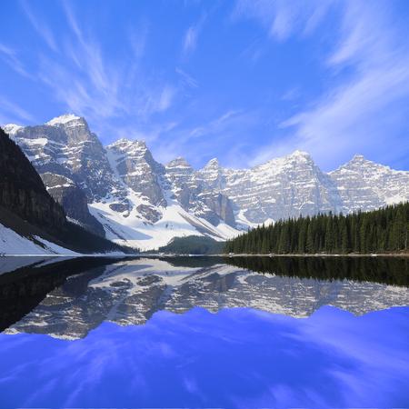 Moraine lake  Banff National park  Canadian Rockies  Stock Photo