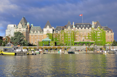 View of Inner Harbour of Victoria, Vancouver Island, B C , Canada  Stock Photo