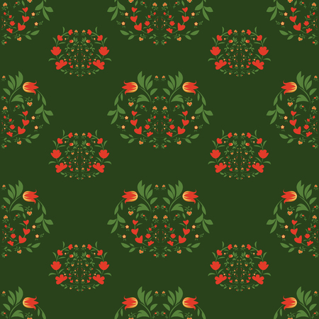 seamless patterns on green background