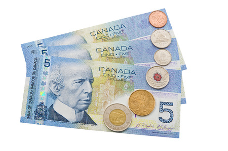 tresure: Coins and colorful bills of Canada