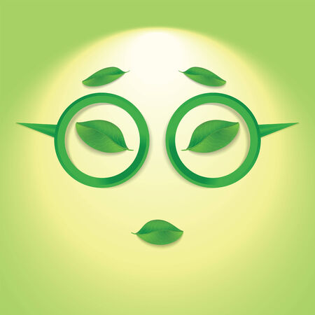 travesty: Sun face with glasses  Illustration