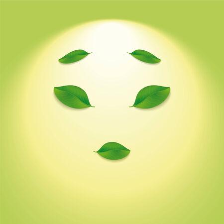 travesty: Sun face  Illustration