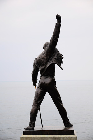 Freddie Mercury statue on the shore of Geneva lake on June 15, 2010 in Montreux, Switzerland